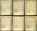 Colonial Notes:Connecticut, CT - Lot of 6 Connecticut July 1, 1780 Colonial Currency Notes..... (Total: 6 notes)