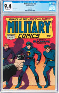 Golden Age (1938-1955):War, Military Comics #22 San Francisco Pedigree (Quality, 1943) CGC NM9.4 Off-white pages....