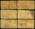 Colonial Notes:New Jersey, NJ - Lot of 6 New Jersey Colonial Currency Notes with Red Color Texts. . ... (Total: 6 notes)