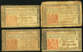 Colonial Notes:New Jersey, NJ - Lot of 4 New Jersey March 25, 1776 1 Shilling 6 Pence Notes..... (Total: 4 notes)