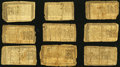 Colonial Notes:Maryland, MD - Lot of 10 Maryland January 1, 1767 Colonial Currency Notes..... (Total: 10 notes)