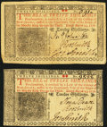 Colonial Notes:New Jersey, NJ - Lot of 2 New Jersey March 25, 1776 12 Shillings Notes.. ...(Total: 2 notes)