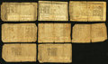 Colonial Notes:Maryland, MD - Lot of 9 Maryland Colonial Currency Notes from Three Acts..... (Total: 9 notes)