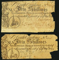 Colonial Notes:North Carolina, NC - Lot of 2 North Carolina March 9, 1754 40 Shillings Notes: Genuine and Counterfeit Comparison Pair.. ... (Total: 2 notes)