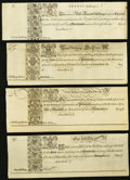 Colonial Notes:Maryland, MD - Lot of 4 Assembly of Maryland at Annapolis 1733 RemainderNotes.. ... (Total: 4 notes)