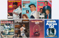Baseball Collectibles:Publications, Baseball Greats Signed Vintage Magazines Lot of 7....