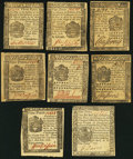 Colonial Notes:Pennsylvania, PA - Lot of 8 Pennsylvania Small Format Pence-Denominated Notes..... (Total: 8 notes)