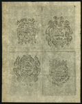Colonial Notes:New Hampshire, NH - New Hampshire April 3, 1742 Uncut Back Sheet of Four Reprint Notes from the Original Plates.. ...