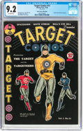 Golden Age (1938-1955):Superhero, Target Comics #11 Mile High Pedigree (Novelty Press, 1940) CGC NM- 9.2 Off-white pages....
