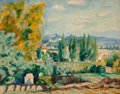 Fine Art - Painting, European:Modern  (1900 1949)  , Henri Charles Manguin (French, 1874-1949). Paysage d'automne auxenvirons de Saint-Tropez, 1922. Oil on canvas. 29 x 36-...