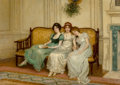 Fine Art - Painting, European:Antique  (Pre 1900), Charles Haigh-Wood (British, 1856-1927). Temptresses. Oil oncanvas. 18 x 25-1/2 inches (45.7 x 64.8 cm). Signed lower l...