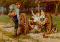 Fine Art - Painting, European:Modern  (1900 1949)  , Frederick Morgan (British, 1856-1927). Apple time. Oil oncanvas. 20 x 28-1/2 inches (50.8 x 72.4 cm). Signed lower left...