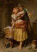 Fine Art - Painting, European, Edwin Roberts (British, 1840-1917). Soft soap. Oil oncanvas. 24 x 18 inches (61.0 x 45.7 cm). Signed lower left:Edwi...