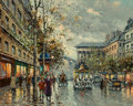 Paintings, Antoine Blanchard (French, 1910-1988). Boulevard de la Madeleine. Oil on canvas. 18 x 22 inches (45.7 x 55.9 cm). Signed...