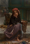Paintings, Guillaume-Charles Brun (French, 1825-1908). The young rag seller, 1870. Oil on canvas. 47-1/2 x 31-3/4 inches (120.7 x 8...