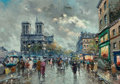 Paintings, Antoine Blanchard (French, 1910-1988). Quai Saint-Michel . Oil on canvas. 13 x 18 inches (33.0 x 45.7 cm). Signed lower ... (Total: 2 Items)