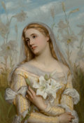 , Gustav Pope (British, 1822-1925). Lilies, 1874. Oil oncanvas. 32 x 24 inches (81.3 x 61.0 cm). Signed and dated lowerl...