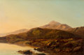 19th Century European:Landscape, Sidney Richard Percy (British, 1821-1886). A mountain lake inevening light. Oil on canvas. 24-1/4 x 36-1/4 inches (61.6...
