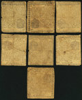 Colonial Notes:Pennsylvania, PA - Lot of 7 Pennsylvania March 10, 1769 Lower DenominationNotes.. ... (Total: 7 notes)