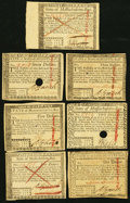 Colonial Notes:Massachusetts, MA - Lot of 7 State of Massachusetts May 5, 1780 Guaranteed by theUnited States Cancelled Notes.. ... (Total: 7 notes)