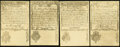 Colonial Notes:New Hampshire, NH - Lot of 4 New Hampshire April 1, 1737 Reprint Note Faces fromthe Original Plate.. ... (Total: 4 notes)