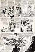 Original Comic Art:Panel Pages, Jim Steranko, Frank Giacoia, and Joe Giella Nick Fury, Agent ofS.H.I.E.L.D. #2 Story Page 10 Original Art (Marvel...