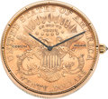 Timepieces:Pocket (post 1900), Corum $20 Gold Coin Automatic Watch. ...
