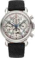 Timepieces:Wristwatch, Franck Muller Chrono Banker Stainless Steel Multi-Time Zone Chronograph Wristwatch Ref. 7000 CC MB. ...