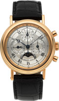 Timepieces:Wristwatch, Breguet Very Fine 18K Gold Perpetual Calendar Moonphase ChronographWristwatch Ref. 3617. ...