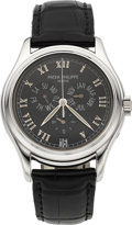 Timepieces:Wristwatch, Patek Philippe Ref. 5035 Platinum Annual Calendar Wristwatch. ...