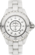 Timepieces:Wristwatch, Chanel J12 White Ceramic Diamond Dial Lady's Wristwatch. ...