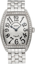Timepieces:Wristwatch, Franck Muller Curvex Stainless Steel & Diamond Wristwatch Ref.7502 QZ DP. ...
