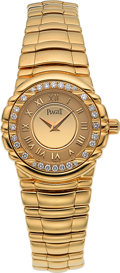 "Timepieces:Wristwatch, Piaget Lady's ""Tangara"" Gold & Diamond Bracelet Watch. ..."