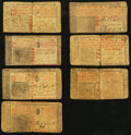 Colonial Notes:New Jersey, NJ - Lot of 7 New Jersey Colonial Currency Notes with Red ColorTexts.. ... (Total: 7 notes)