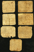Colonial Notes:Virginia, VA - Lot of 7 Virginia Early Colonial Currency Notes.. ... (Total:7 notes)