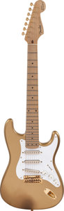 Musical Instruments:Electric Guitars, Circa 1990s Fender Maestro Alex Gregory Signature StratocasterShoreline Gold Solid Body Electric Guitar, Serial #MAG0002....