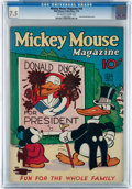 Platinum Age (1897-1937):Miscellaneous, Mickey Mouse Magazine #10 (K. K. Publications/Western PublishingCo., 1936) CGC VF- 7.5 Off-white to white pages....