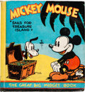 Big Little Book:Cartoon Character, Great Big Midget Book #nn Mickey Mouse Sails For Treasure Island(Dean & Son, 1933) Condition: Average VF....