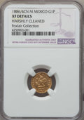 Mexico, Mexico: Republic gold Peso 1886/4 Cn-M XF Details (Harshly Cleaned)NGC,...