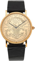 Timepieces:Wristwatch, Corum $20 Liberty 1897 Gold Coin Wristwatch. ...