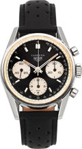 Timepieces:Wristwatch, Heuer Carrera Ref. 2447 NST Stainless Steel Chronograph WristwatchCirca 1970. ...