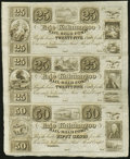 Obsoletes By State:Ohio, Toledo, OH- Erie and Kalamazoo Rail-Road Compy. 25¢-25¢-50¢ 18__Uncut Sheet. ...