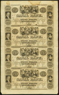 Obsoletes By State:Louisiana, New Orleans, LA- Canal Bank $20-$20-$20-$20 18__ Uncut Sheet . ...