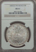 Mexico, Mexico: Republic 8 Reales 1846 Go-PM MS61 NGC,...