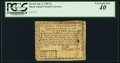 Colonial Notes:Rhode Island, Fully Signed Rhode Island July 2, 1780 $2 PCGS Extremely Fine 40.....