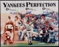 Autographs:Photos, New York Yankees Perfect Game Winning Multi Signed OversizedPhotograph - Including Larsen, Wells, & Cone. ...