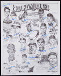 Autographs:Photos, Brooklyn Dodgers Multi-Signed Oversized Lithograph - Numbered outof 300. ...