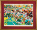 """Football Collectibles:Others, 1985 San Francisco 49ers vs. Miami Dolphins """"Post Season Classic"""" Serigraph Signed by LeRoy Neiman. ..."""
