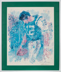 Football Collectibles:Others, 1969 Joe Namath Lithograph Signed by LeRoy Neiman....