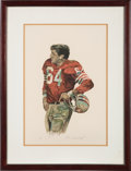 Football Collectibles:Others, Circa 1979 Dave Wilcox Lithograph by Artist Merv Corning....